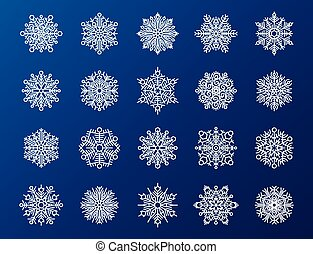 Snowflake season nature winter snow symbol frozen ice xmas element and christmas frost silhouette vector illustration.