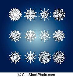Snowflake set for winter design