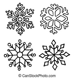 Snowflake set.