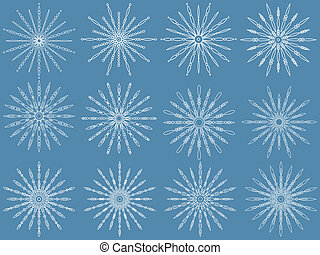 Snowflake set. Vector illustration.