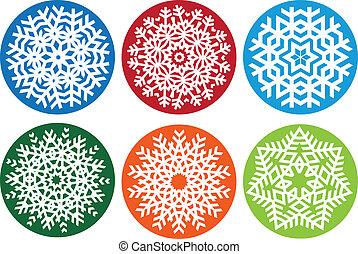 Snowflake set, vector