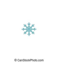 Snowflake sign. Blue Snowflake icon isolated on white background. Snow flake silhouette.