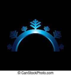 Snowflake sign. Blue Snowflake icon isolated on white background