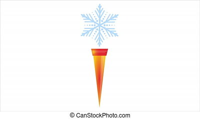 Snowflake Torch for Winter Sports, art video illustration.