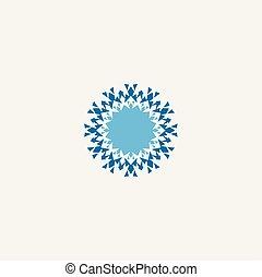 snowflake vector element symbol icon