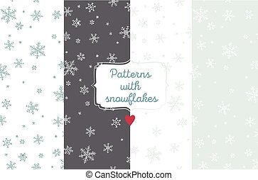 Snowflake vector patterns.