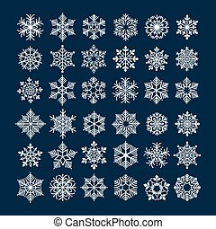 Snowflake vector set