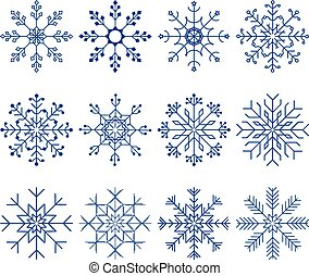 Snowflake Vector Set