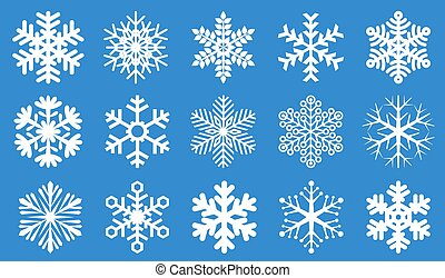 Snowflake vector set.