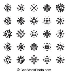 Snowflake Vector symbol graphic crystal frozen decoration for design Isolated from the background