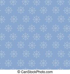 snowflake., vetorial, padrão, seamless