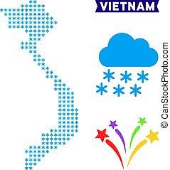 Snowflake Vietnam Map