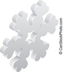 Snowflake Weather Icon Concept