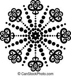 Snowflake winter background.