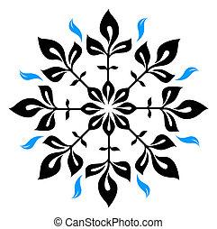 Snowflake winter illustration