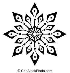 Snowflake winter illustration vector