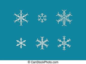 Snowflake winter set vector illustration. set of snowflakes