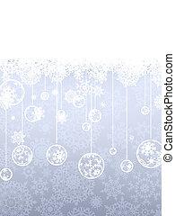snowflakes., élégant, eps, noël, 8