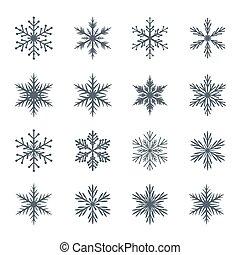 snowflakes., コレクション, ベクトル