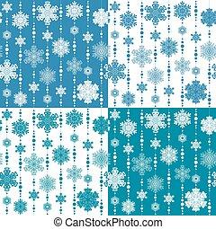 snowflakes., パターン, seamless