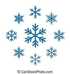 snowflakes., ベクトル, コレクション