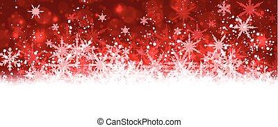 snowflakes., 旗, 冬, 赤