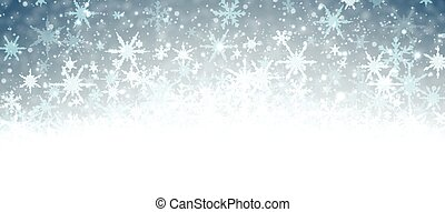 snowflakes., 旗, 冬