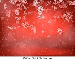 snowflakes., 10, eps, fond, noël
