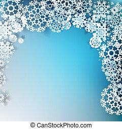 snowflakes., 10, eps, noël, élégant