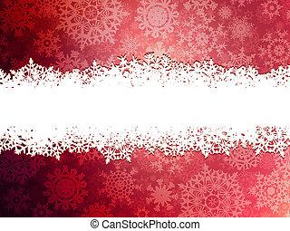 snowflakes., 10, invierno, plano de fondo, eps