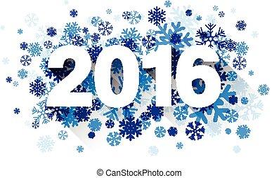 snowflakes., 2016, aus, papier, zeichen
