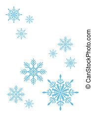 Composition from snowflakes. All snowflakes different under the form and on a design. They remind difficult ornaments.