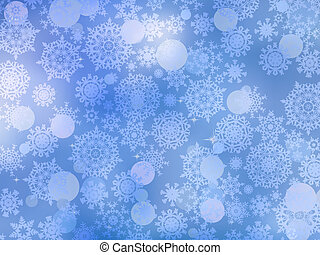 snowflakes., 8, froid, eps, fond