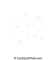 Snowflakes abstract background on blue