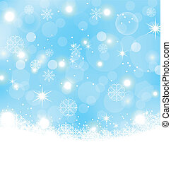 snowflakes, abstract, sterretjes, kerstmis, achtergrond