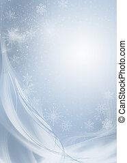 Snowflakes - abstract winter background