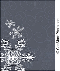 snowflakes and curl background