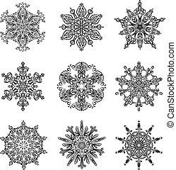 Snowflakes and Mandala collection