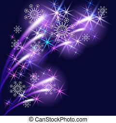 Snowflakes and salute - Christmas background with snowflakes...