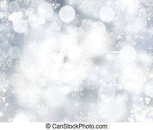 Snowflakes and stars - Christmas background of snowflakes...
