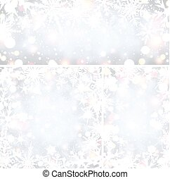 snowflakes., arrière-plans, hiver, briller