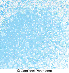 Snowflakes Backdrop Vector