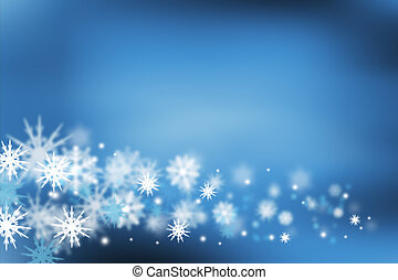 Snowflakes - Background of many snowflakes