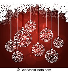 snowflakes background red