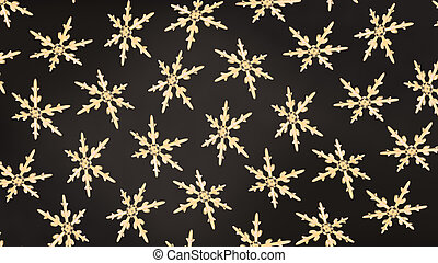 snowflakes background rotation gold dark