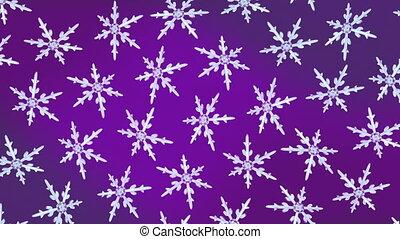 snowflakes background rotation purple hd - Ice crystal...