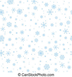 snowflakes background - Seamless winter background with...