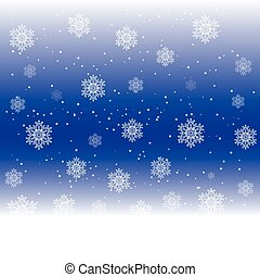 Snowflakes background, vector