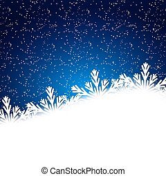 Snowflakes background with falling snow. Christmas Background.