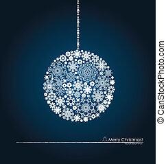 snowflakes., balle, illustration., vecteur, noël